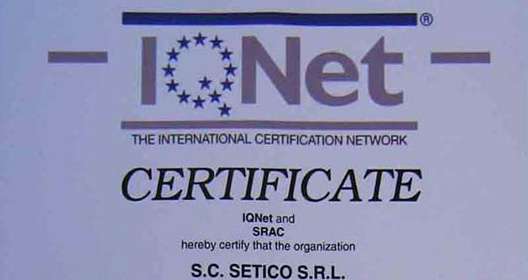 Setico - Certifications